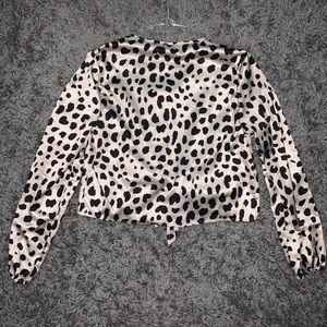 Windsor Tops - Cheetah Print Blouse